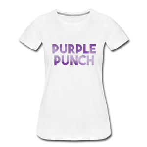 Women's Premium Organic Purple Punch T-Shirt - white