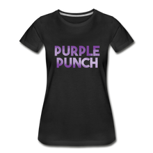 Load image into Gallery viewer, Women's Premium Organic Purple Punch T-Shirt - black