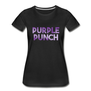 Women's Premium Organic Purple Punch T-Shirt - black