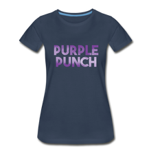 Load image into Gallery viewer, Women's Premium Organic Purple Punch T-Shirt - navy