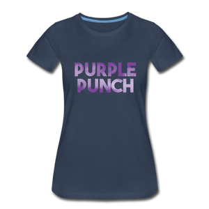 Women's Premium Organic Purple Punch T-Shirt - navy