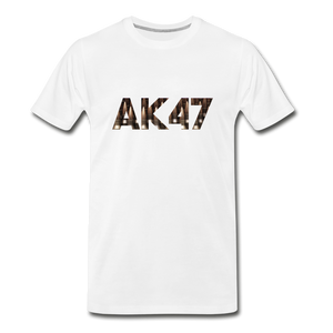 Men's Premium Organic AK47 T-Shirt - white
