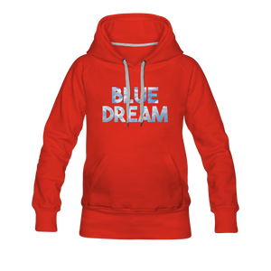 Women's Blue Dream Hoodie - red
