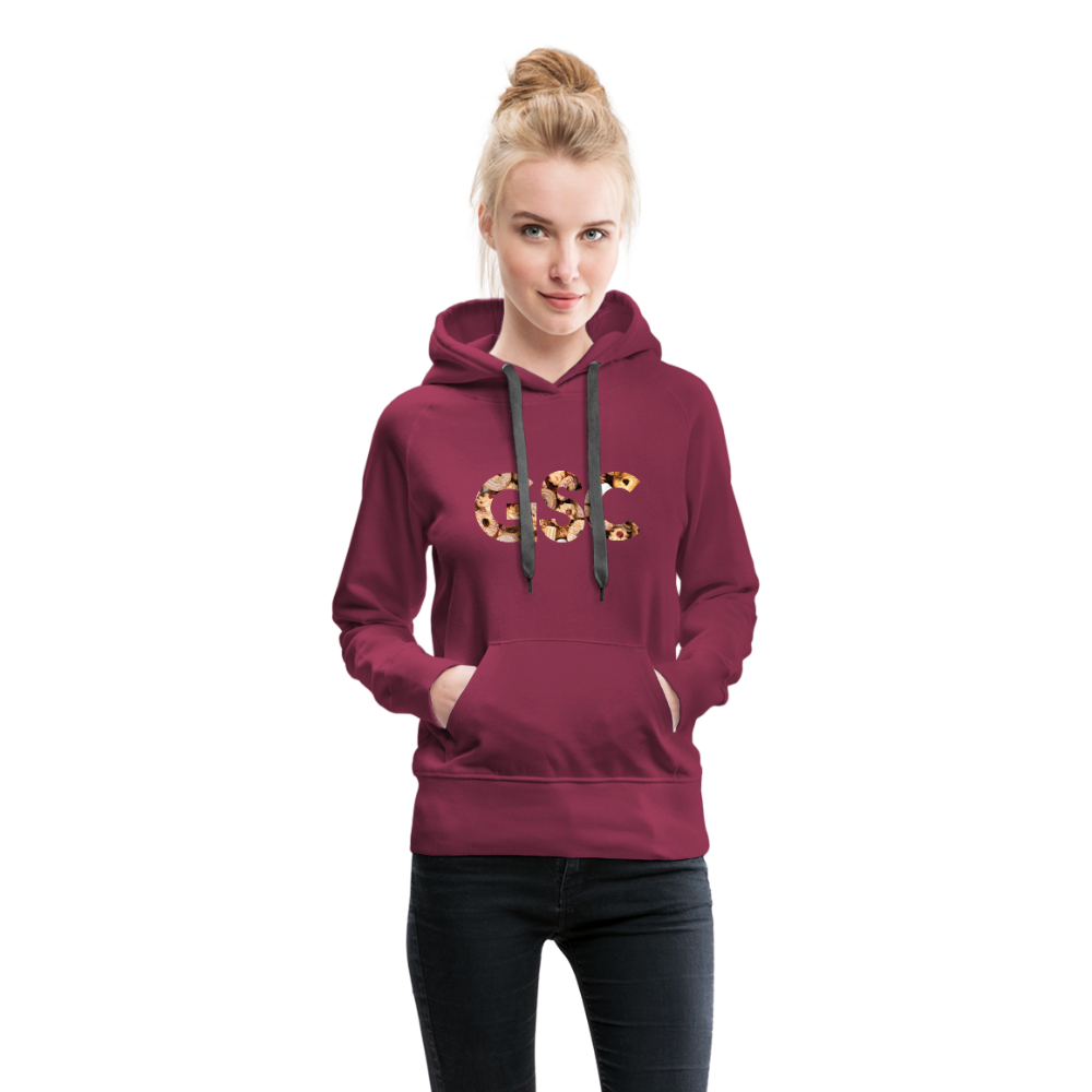 Women's Girl Scout Cookie Hoodie - burgundy