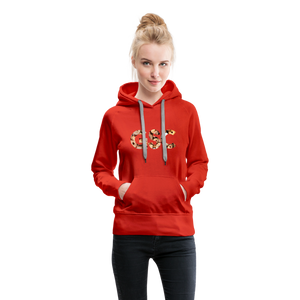 Women's Girl Scout Cookie Hoodie - red