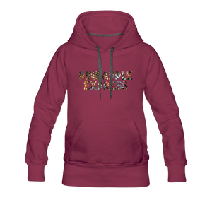 Women's Pineapple Express Hoodie - burgundy