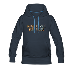 Women's Pineapple Express Hoodie - navy