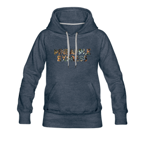 Women's Pineapple Express Hoodie - heather denim