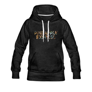Women's Pineapple Express Hoodie - charcoal gray