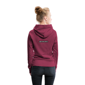 Women's Purple Punch Hoodie - burgundy