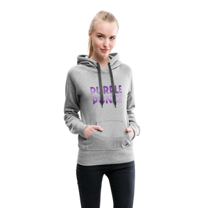 Women's Purple Punch Hoodie - heather gray