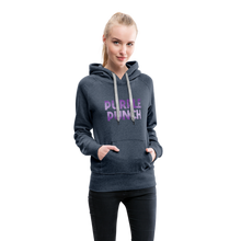 Load image into Gallery viewer, Women's Purple Punch Hoodie - heather denim