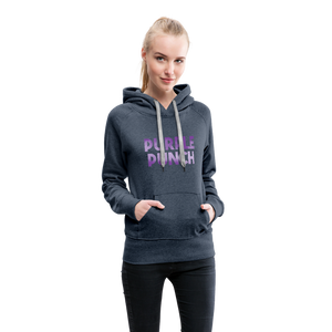 Women's Purple Punch Hoodie - heather denim