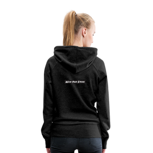 Women's Purple Punch Hoodie - charcoal gray