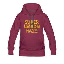 Load image into Gallery viewer, Women's Super Lemon Haze Hoodie - burgundy