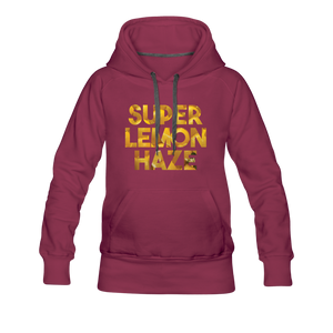 Women's Super Lemon Haze Hoodie - burgundy
