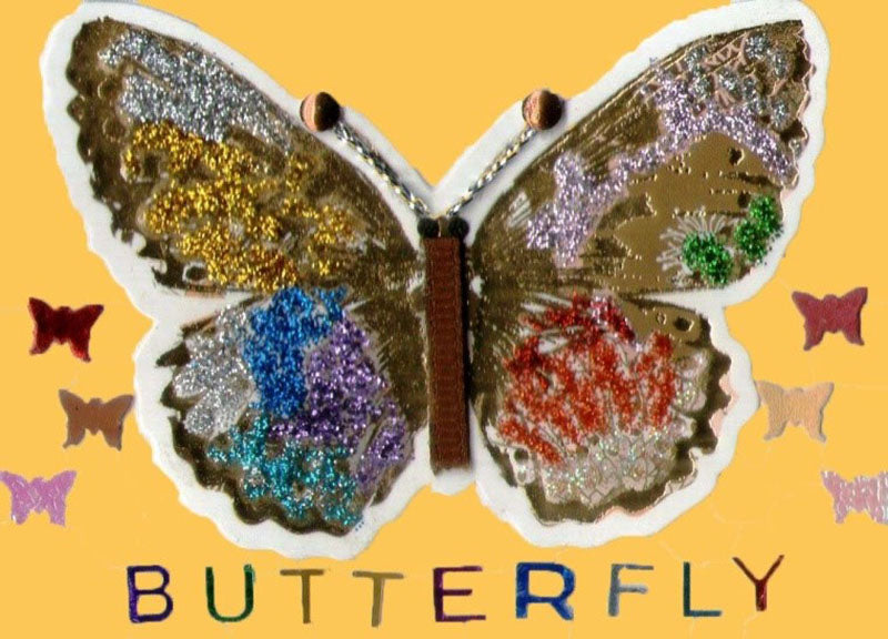 Butterfly Pop Art Artist Trading Cards Design