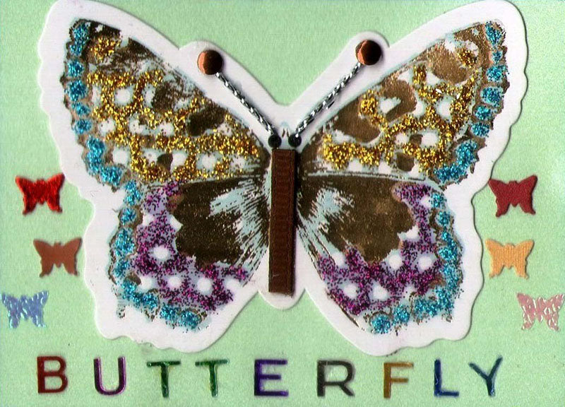 Butterfly Artist Trading Cards Design