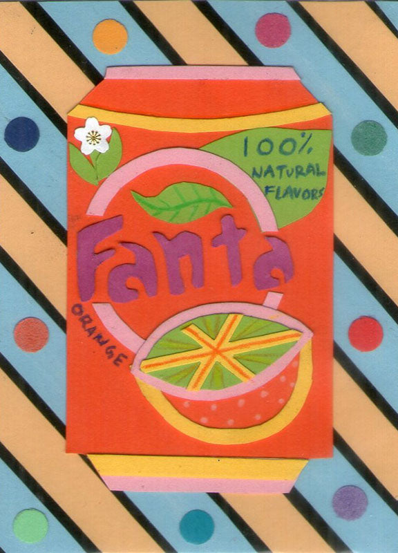 Fanta Pop Art Artist Trading Cards Design
