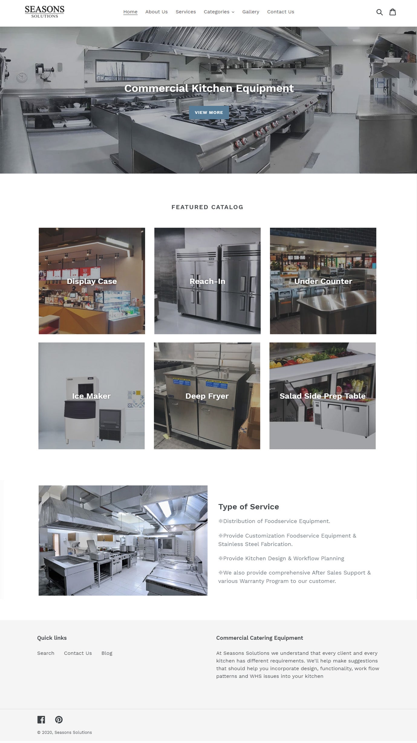 Commercial Kitchen Web Design Singapore