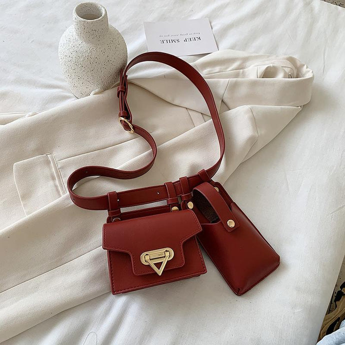 Burgundy Belt Bag - High Lash Darling