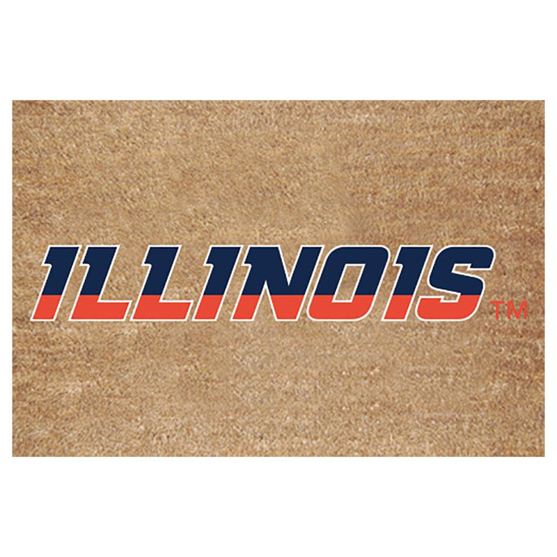 Colored Logo Door Mat Illinois