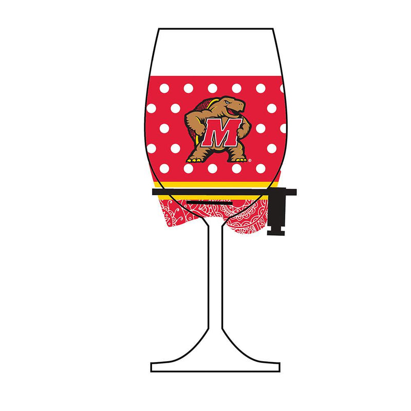 Wine Glass Woozie | Maryland Terrapins