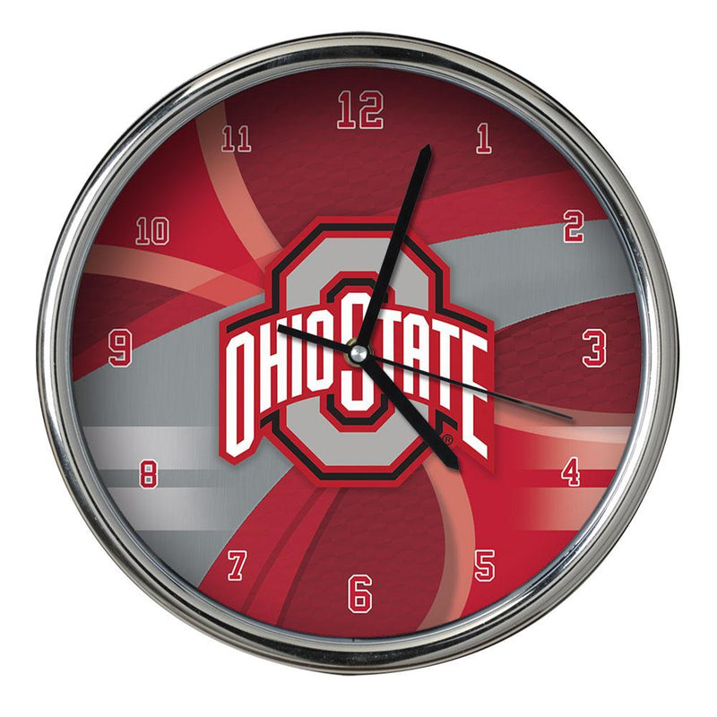 CARBON FIBER CHROME CLOCK OHIO ST