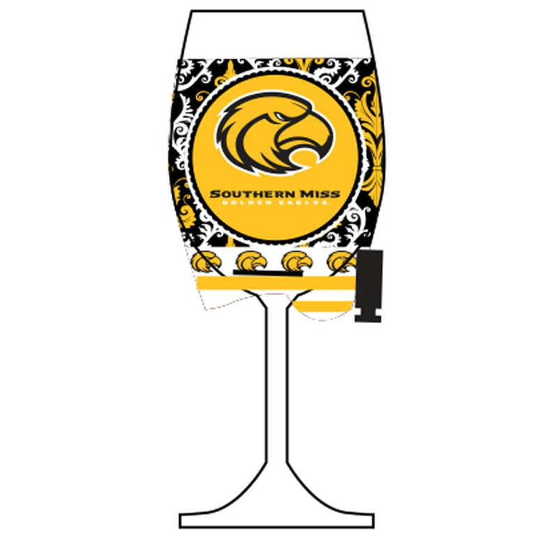 Wine Glass Woozie GG Southern Miss