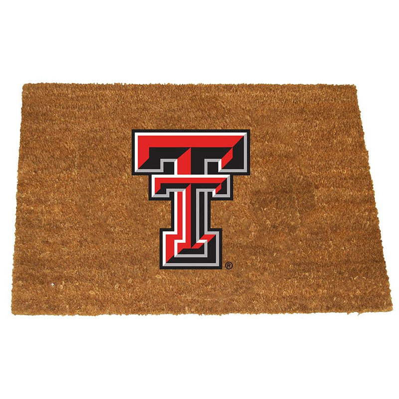 Colored Logo Door Mat Texas Tech