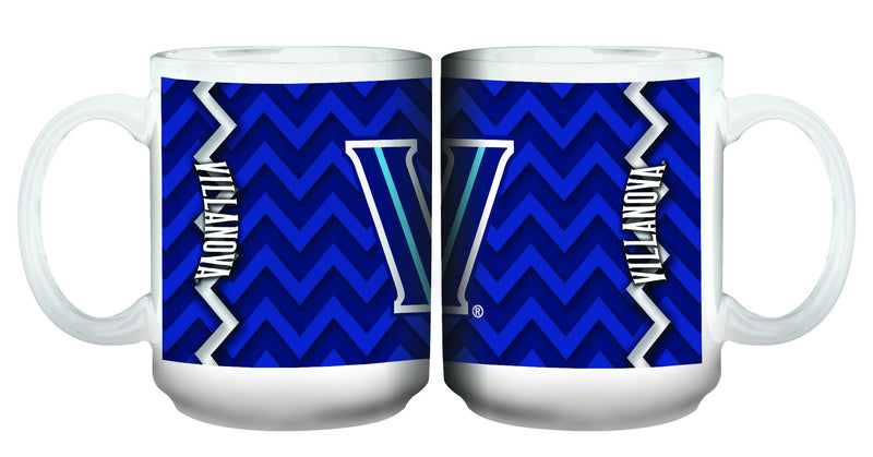 15oz Chevron Design White Mug Villanova
