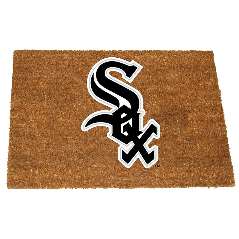 Colored Logo Door Mat White Sox
