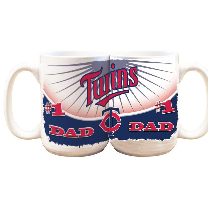 #1 Dad 15oz Wht Mug TWINS