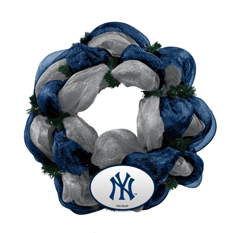 Mesh Wreath Yankees
