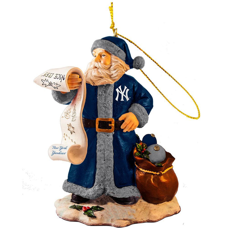 2015 Naughty Nice List Santa Ornament| New York Yankees