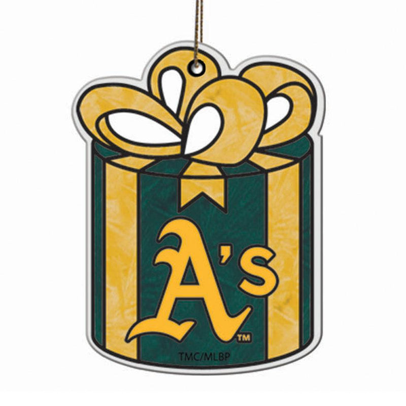 Art Glass Round Gift Ornament | Oakland Athletics