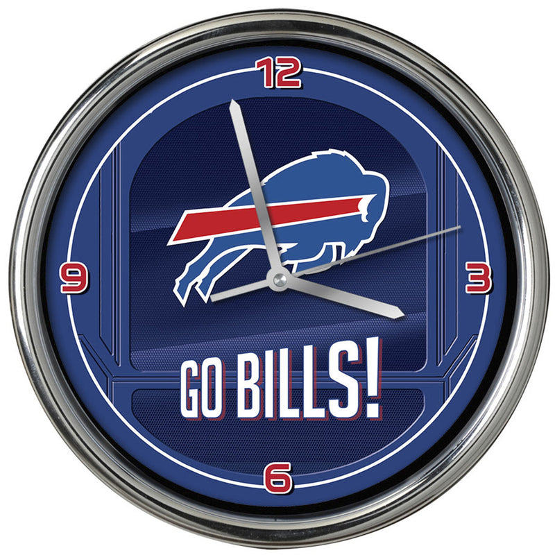 Go Team! Chrome Clock Buffalo Bills