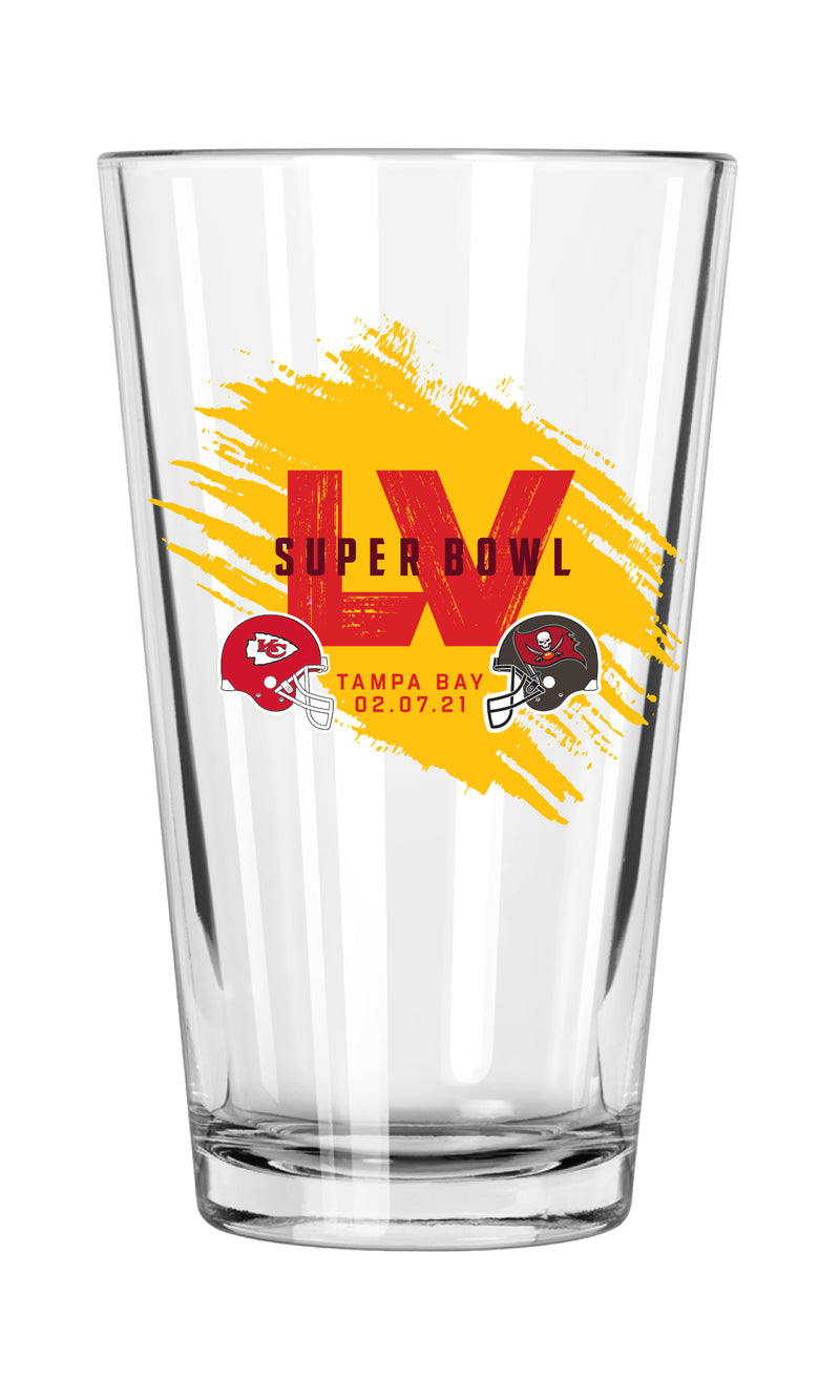 Super Bowl LV Dueling 17oz Mixing Glass