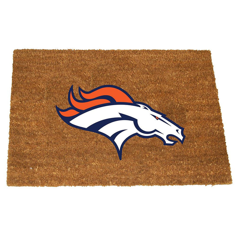 Colored Logo Door Mat Broncos