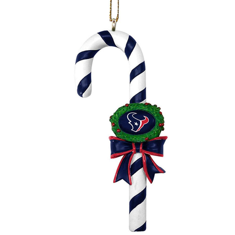 Candy Cane Ornament Texans