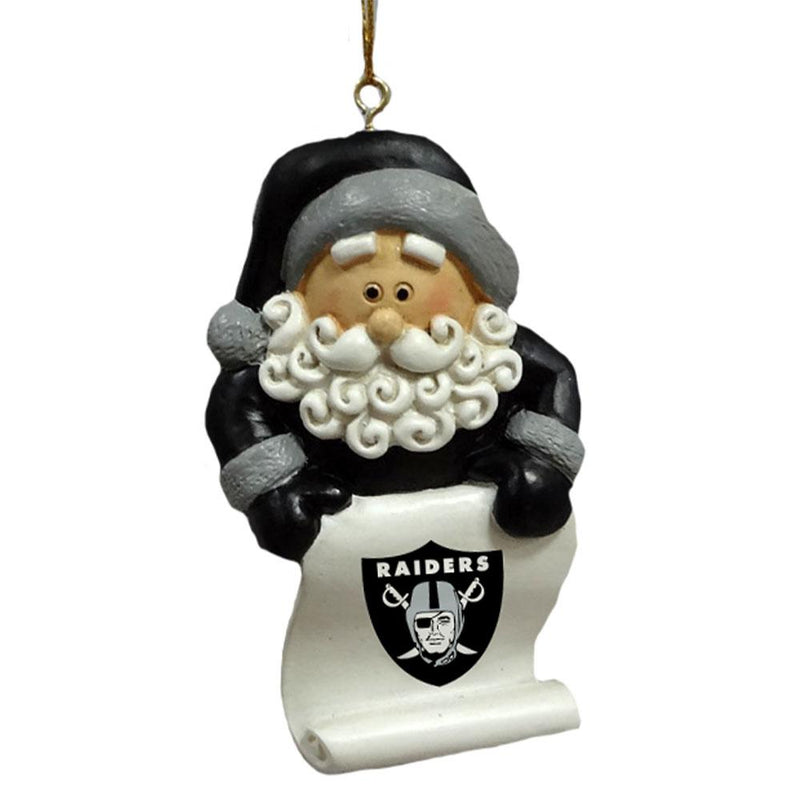 SANTA SCROLL ORN RAIDERS