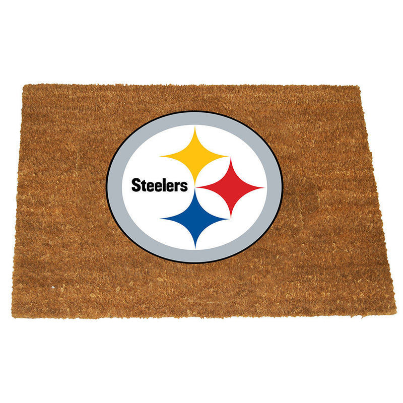 Colored Logo Door Mat | Pittsburgh Steelers