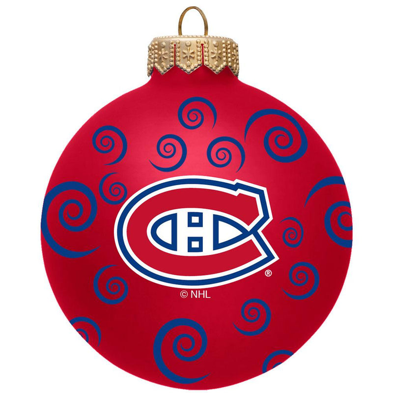 "3"" TEAM SWIRL BALL ORN Canadiens"