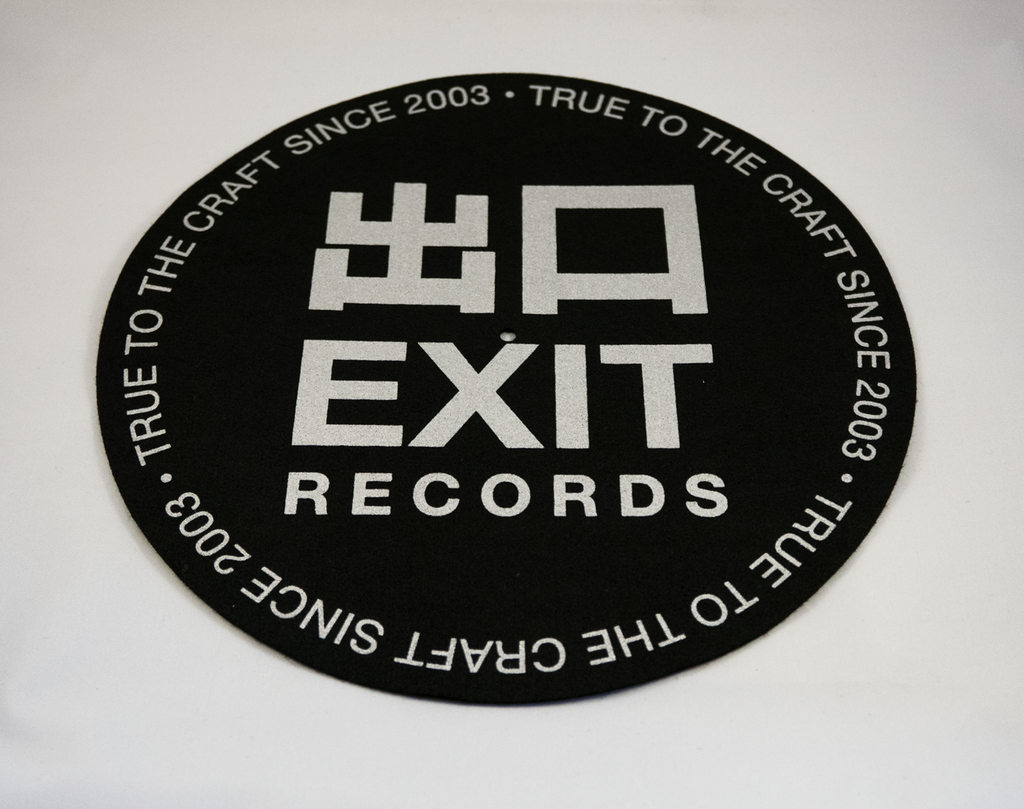 Exit Records Slipmats (Silver/Black)