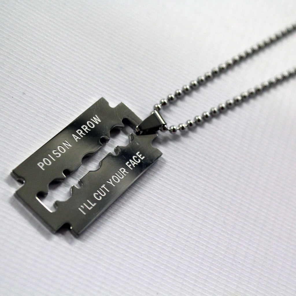 'Ill Cut Your Face' necklace