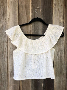 Detailed Cream Blouse