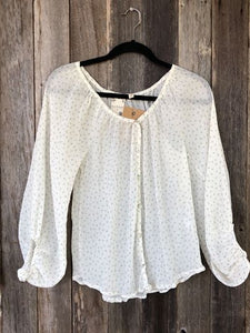 Polka Dot Blouse- Long Sleeve
