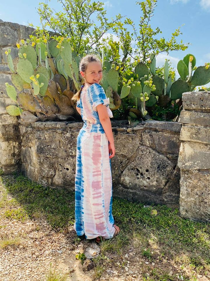 Girls Cotton Candy Wide Leg Pant