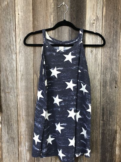 Navy Tank with White Stars