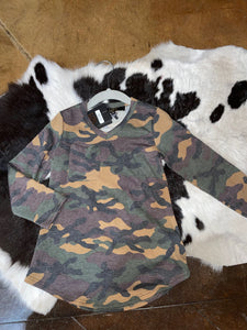 Kid's Camo Longsleeve Pocket Tee